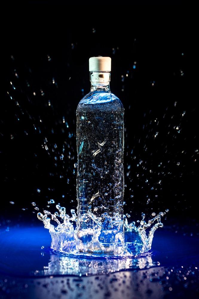 Glass Reusable Water Bottle Flaska